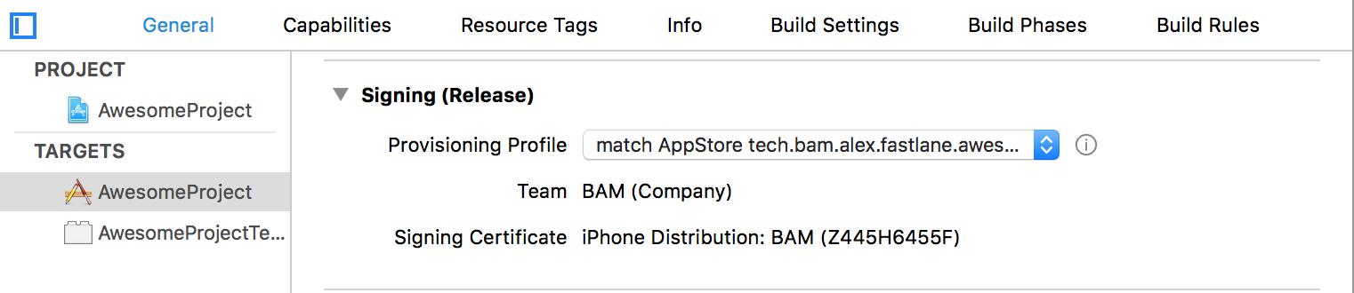 manually select provisioning profile