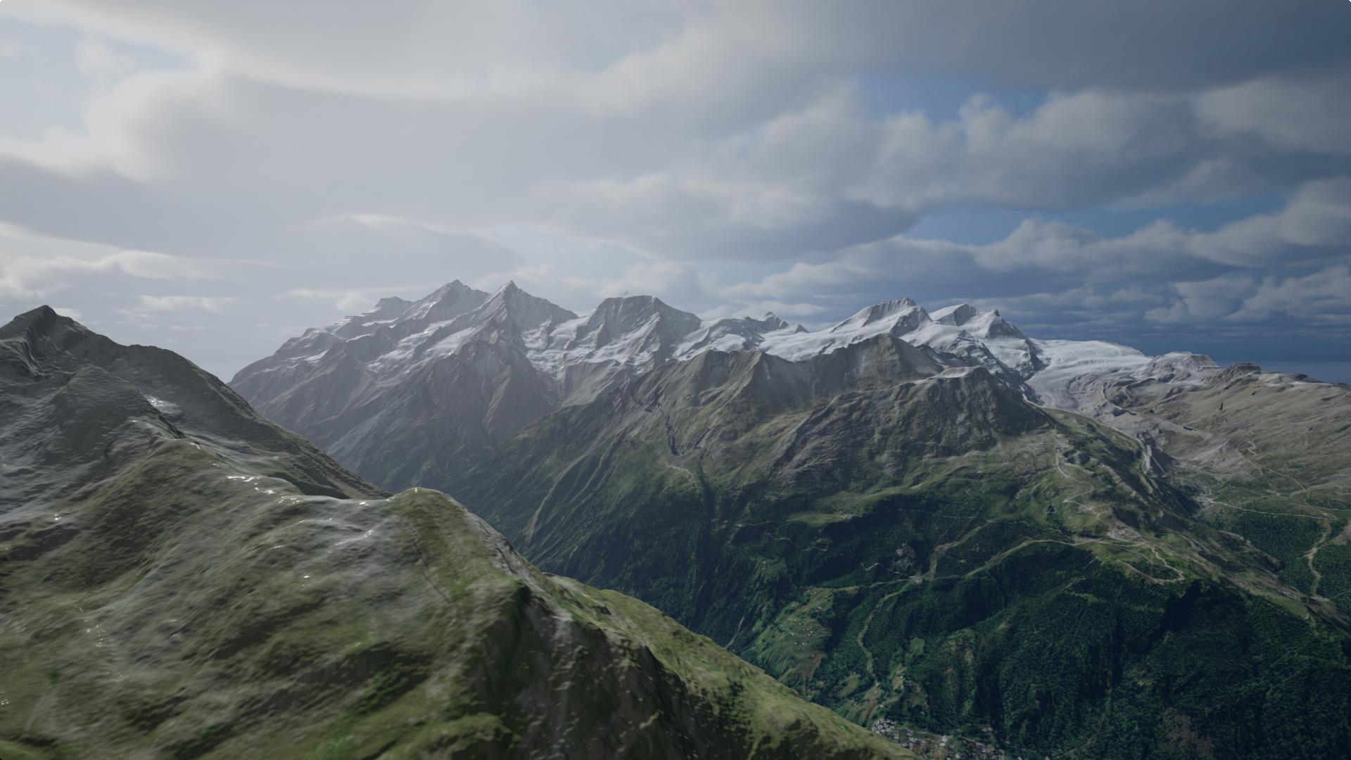 mountain without snow