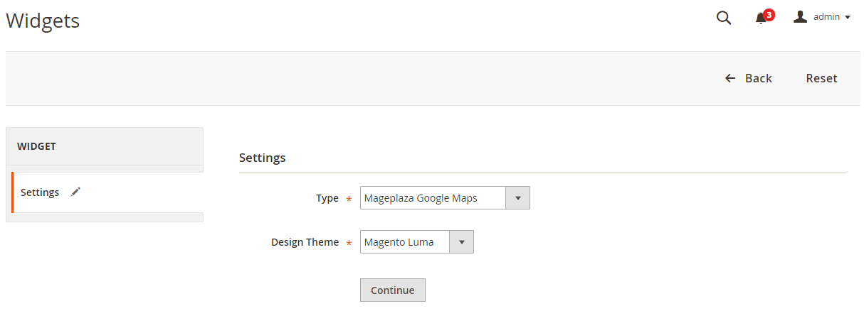 Magento 2 Google Maps widget