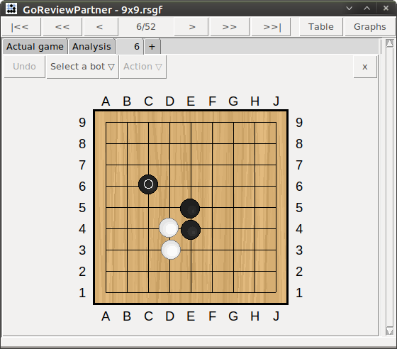 Screen-shot of GoReviewPartner: Game Review (testing other sequences)