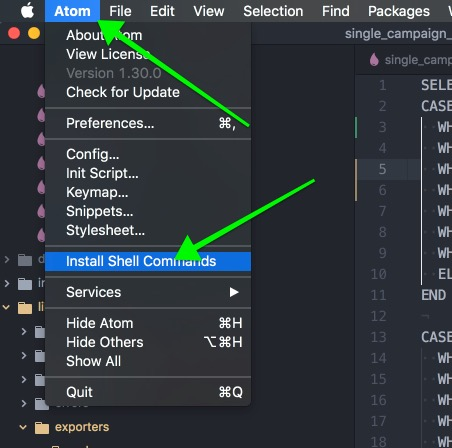 install shell commands