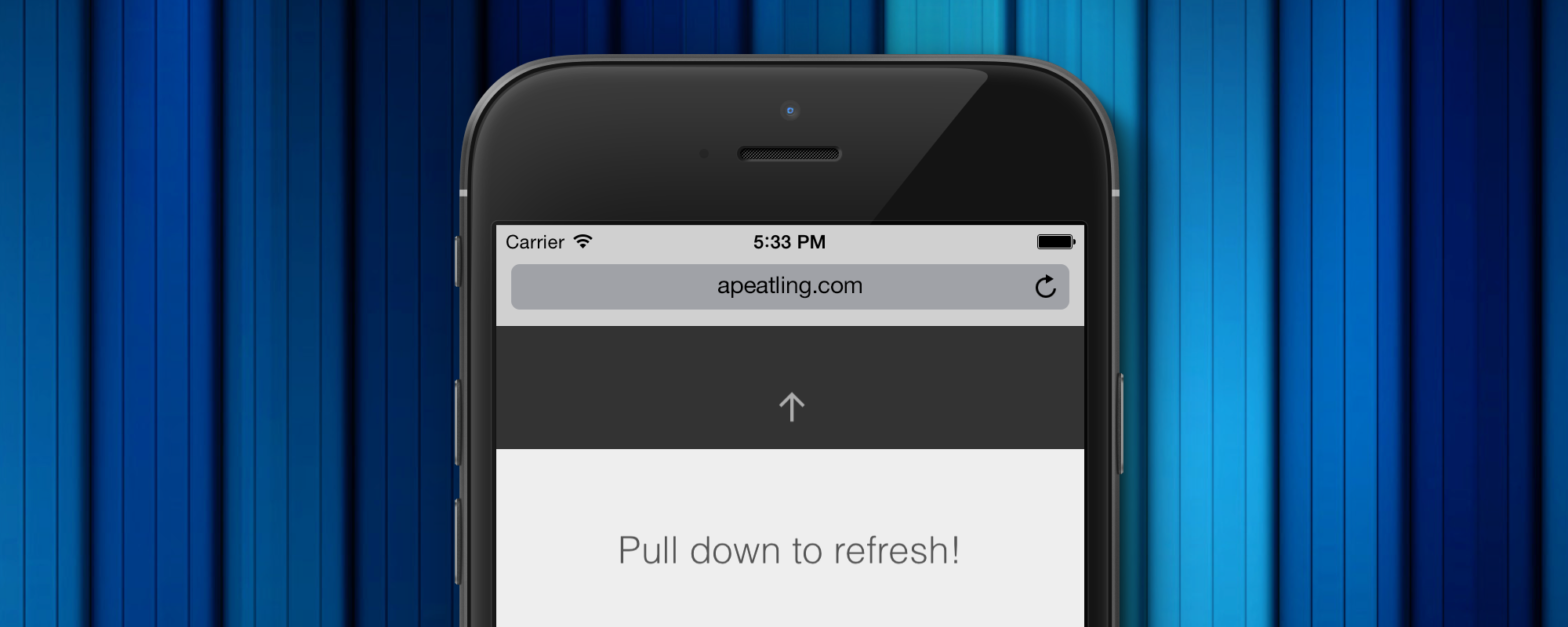 Web Pull to Refresh