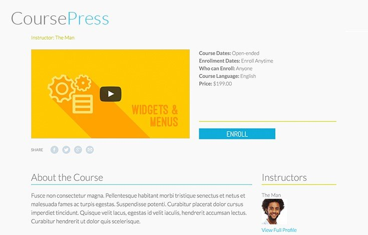 Make you courses interactive with video, audio, quizzes and other downloadable media.