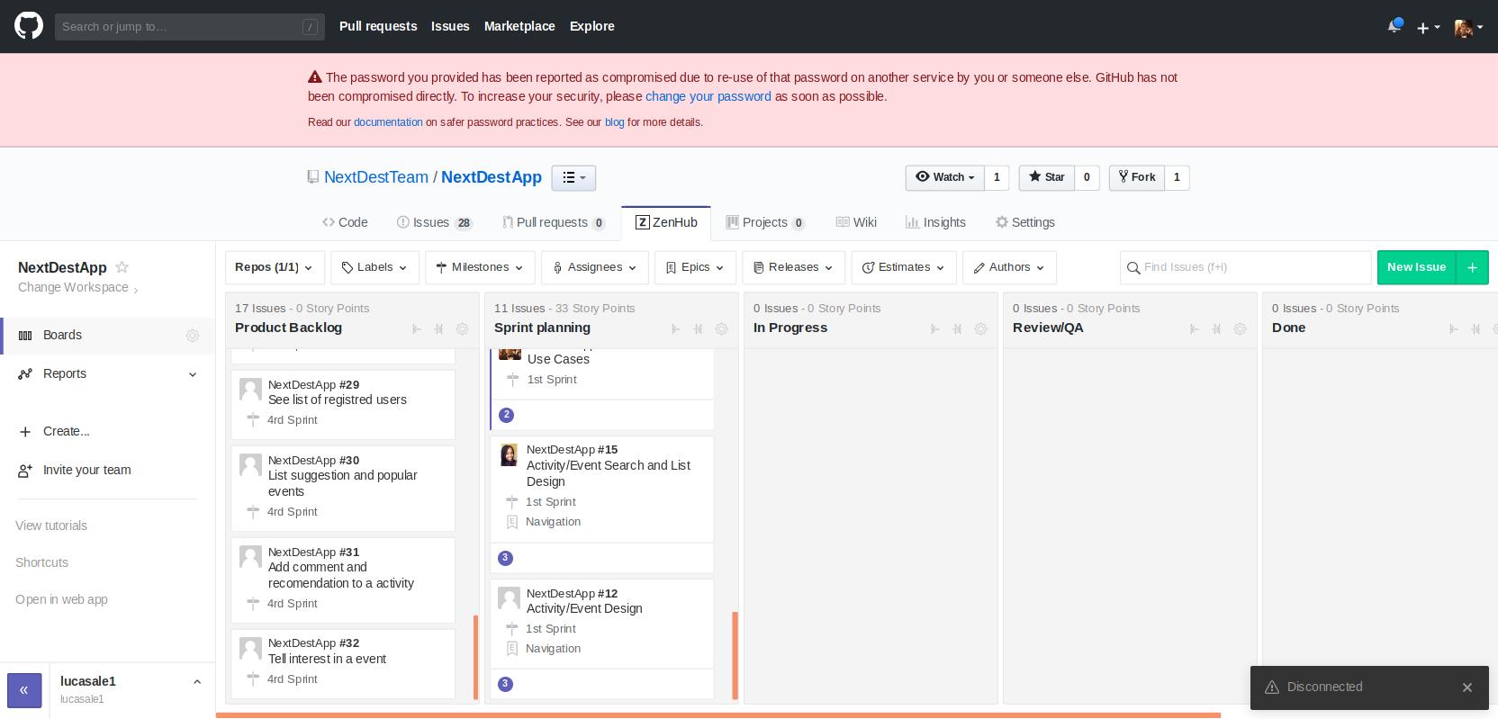 Sprint Planning 1st · NextDestTeam/NextDestApp Wiki · GitHub