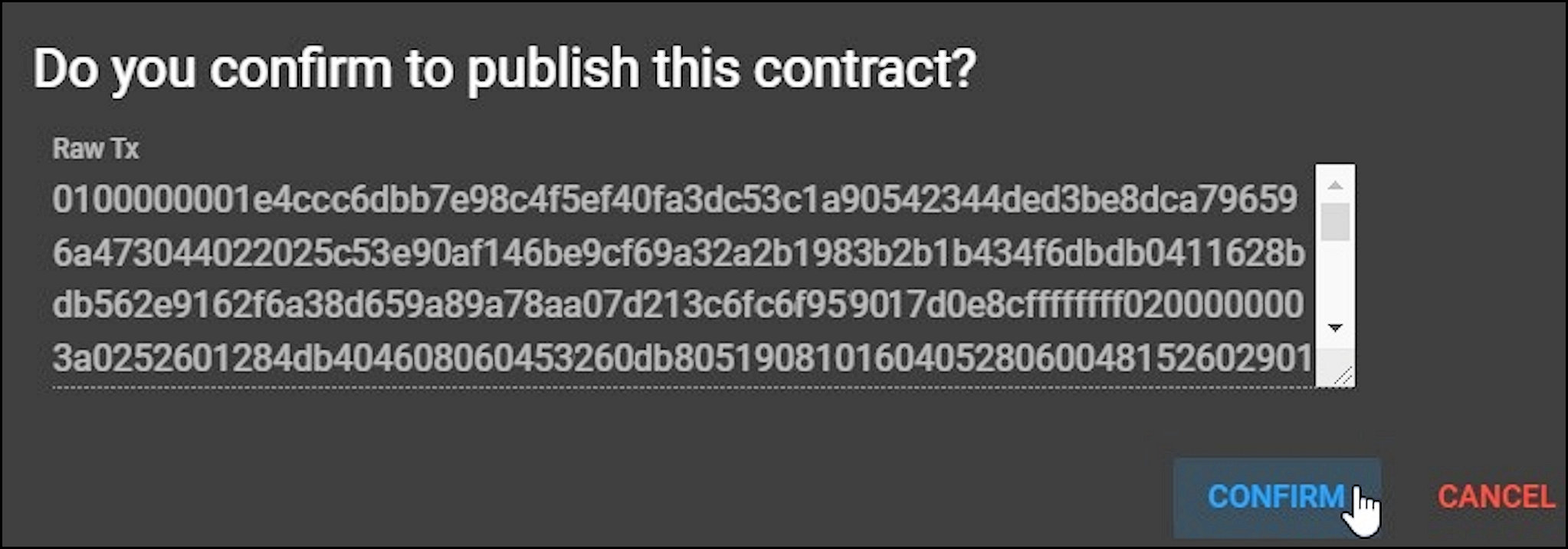 2019-16 Do you confirm to publish this contract