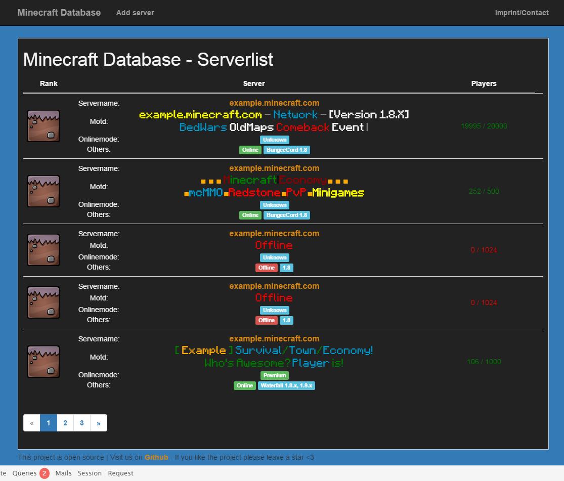 GitHub GamesMinecraftDatabase Minecraft Website With A - Minecraft server icon erstellen online