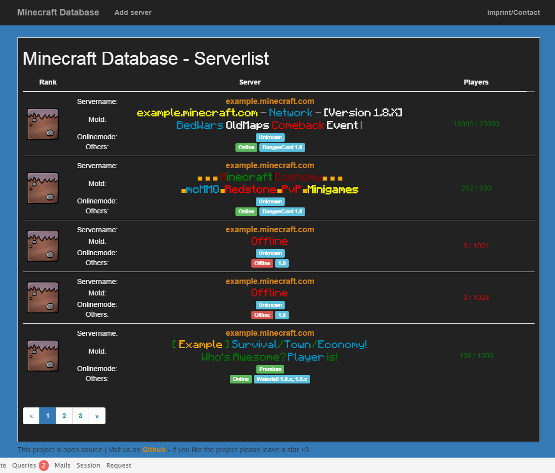 GitHub - games11/Minecraft-Database: Minecraft website with a