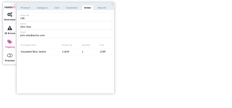 Nosto debug toolbar order