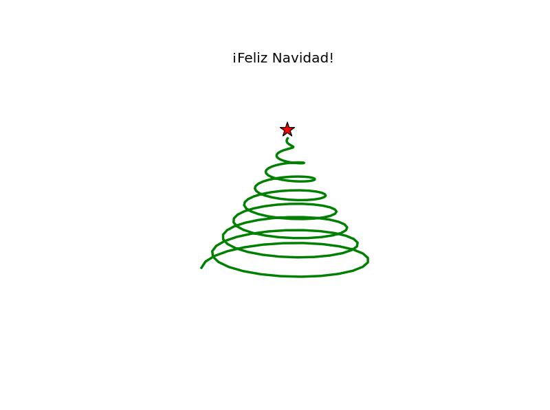 Draw a minimalist christmas tree with python and their for Minimalist christmas tree