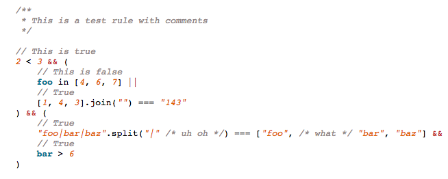 Syntax preview