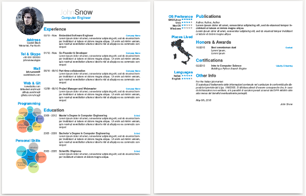 cv screenshot. Resume Example. Resume CV Cover Letter