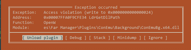FAR Manager - Access Violation when loading