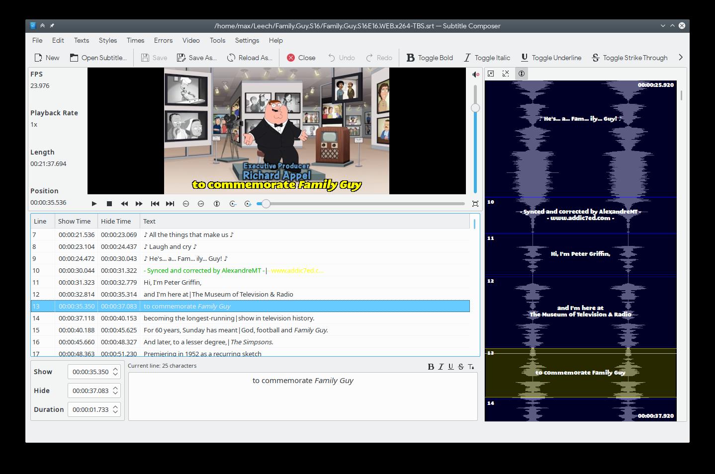 GitHub - maxrd2/SubtitleComposer: Subtitle Composer - KF5/Qt