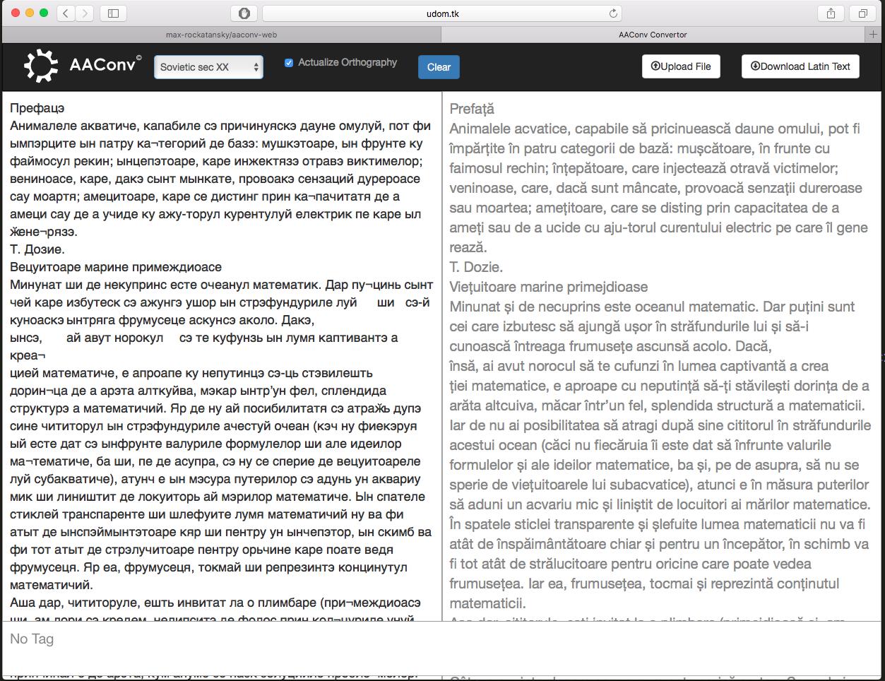 GitHub - bumbutudor/aaconv-web