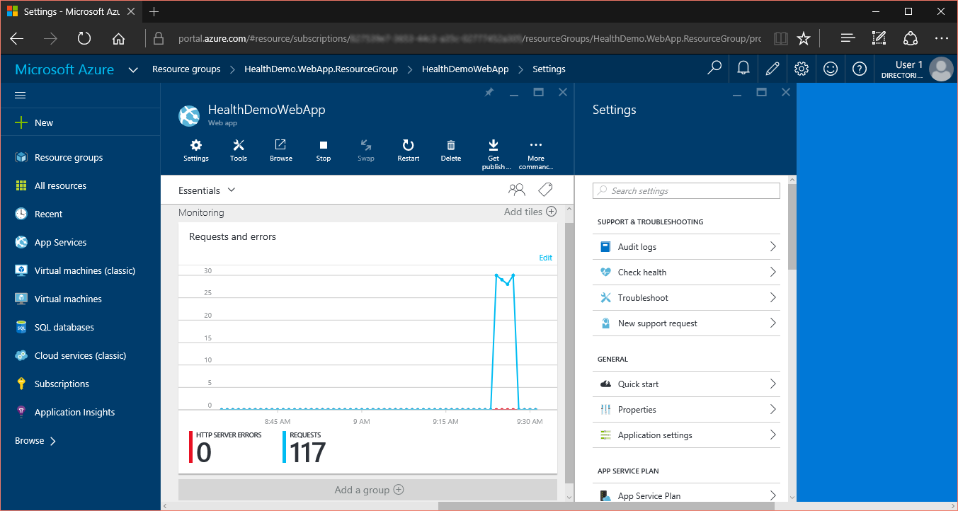 Create And Deploy An Aspnet Web App In Azure Service Blank Auto Mobile Wiring Diagrams Schematic Monitor Manage The Portal