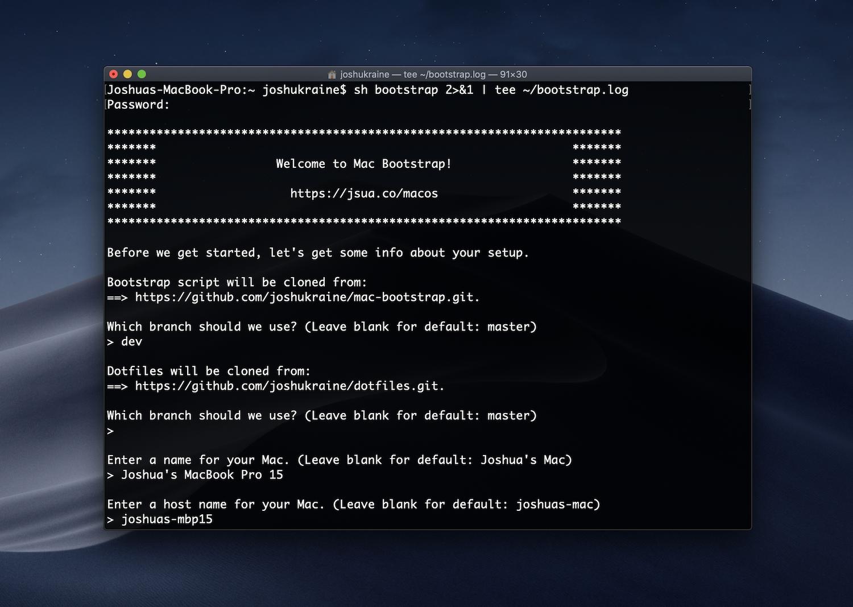 GitHub - joshukraine/mac-bootstrap: Provision a new Mac for web