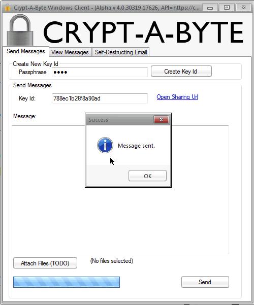 CryptAByte Windows CLient