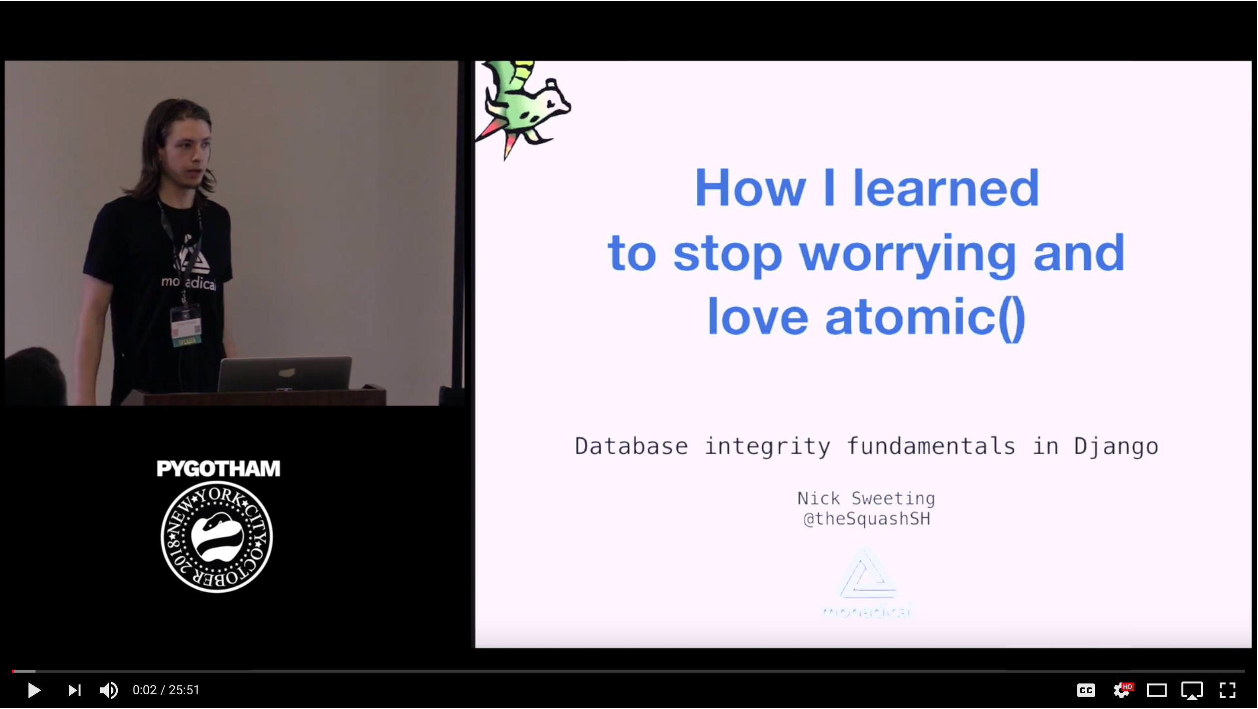 First slide of talk