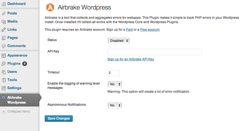 GitHub - airbrake/airbrake-wordpress: Airbrake Wordpress