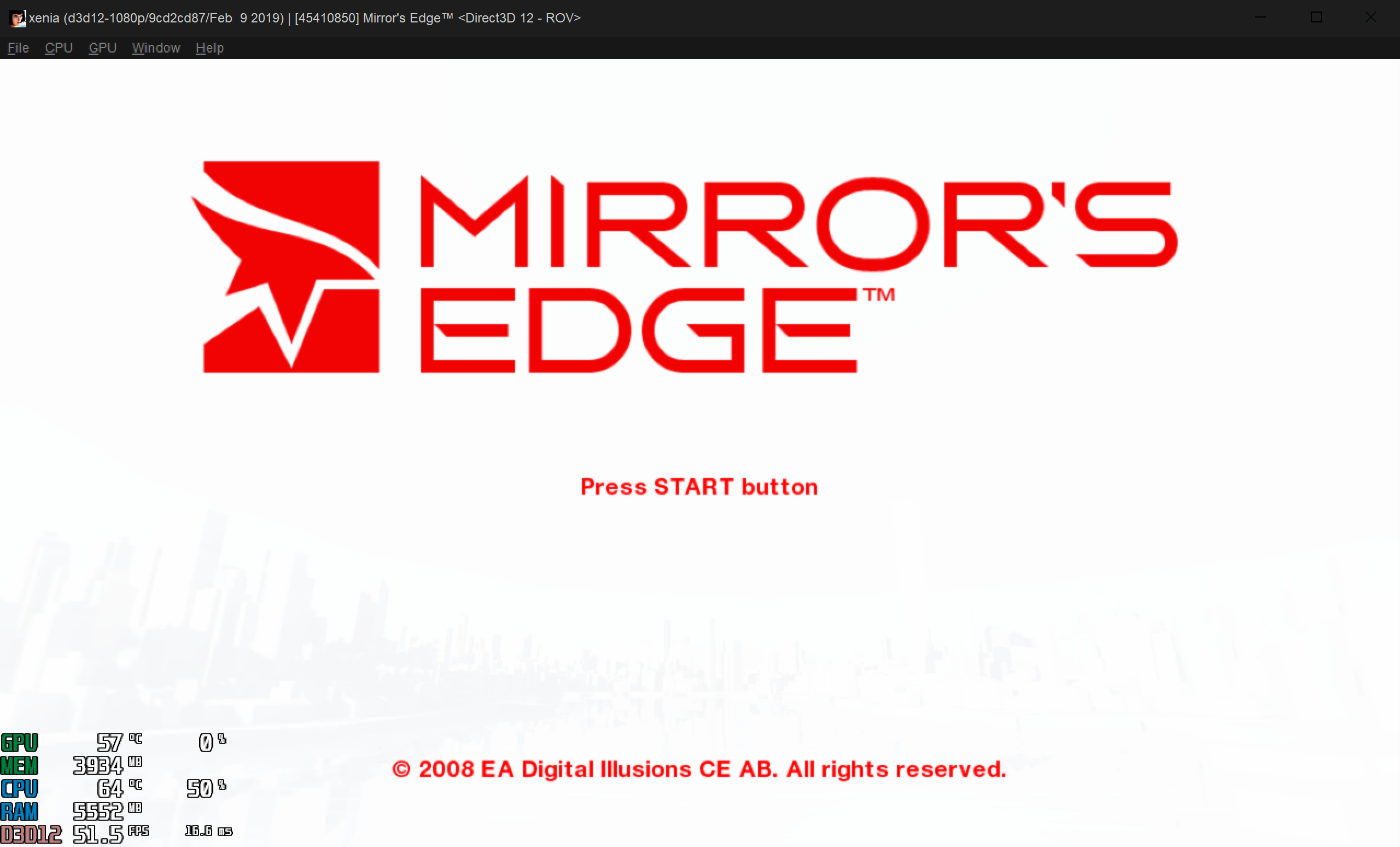 45410850 - Mirror's Edge · Issue #264 · xenia-project/game