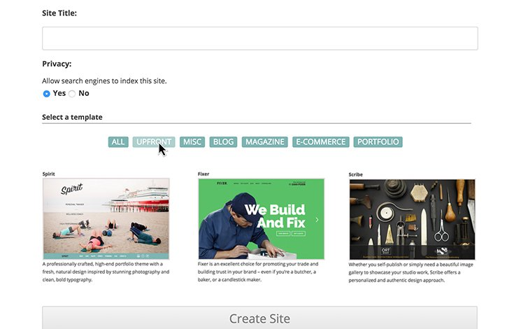 Offer users quick start options with templates.