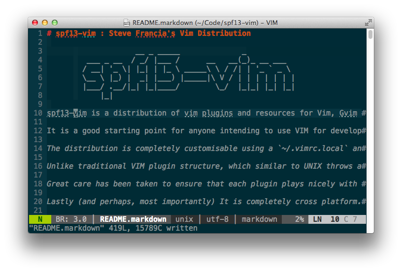 spf13-vim image