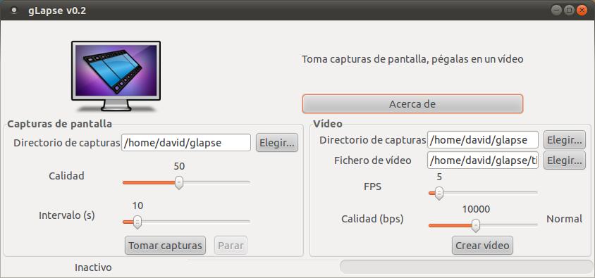 gLapse screen