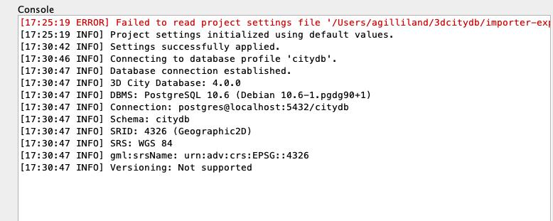 Database Connected Screenshot