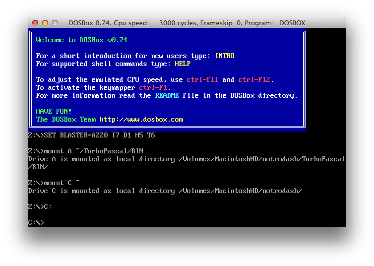 TurboPascal setup tutorial for Mac · GitHub