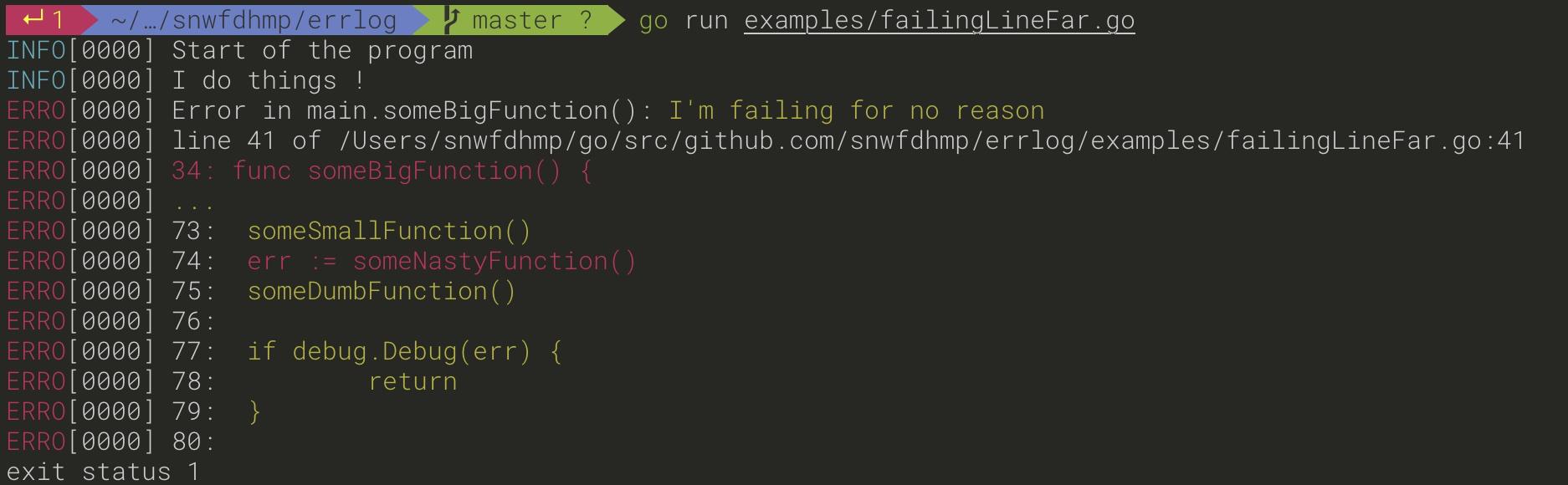 Source Example: error earlier in the code