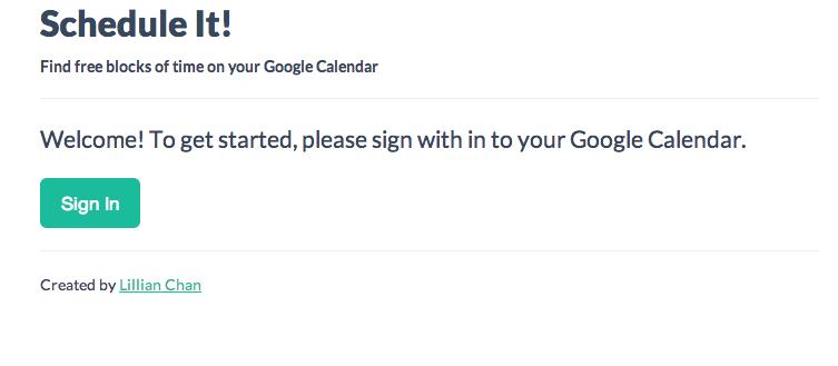 GitHub - superchink/google-calendar-app: Scheduling app to