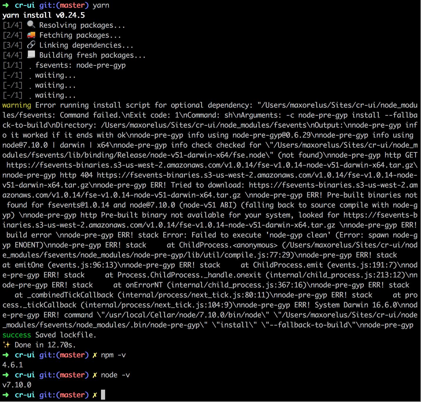install typescript yarn