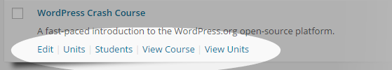 CoursePress - Courses - hover links