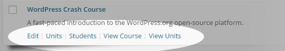 CoursePress - Courses - hover links