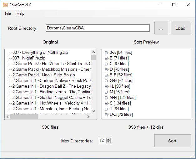 RomSort ScreenShot