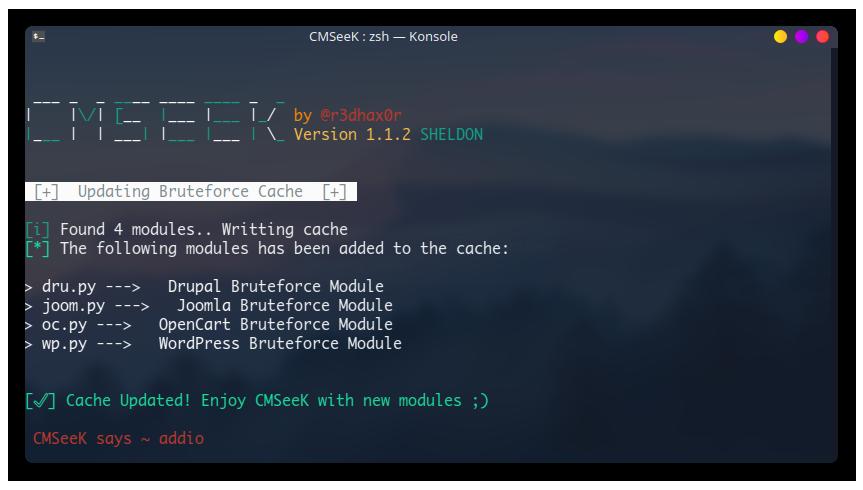 Cache Rebuild Screenshot