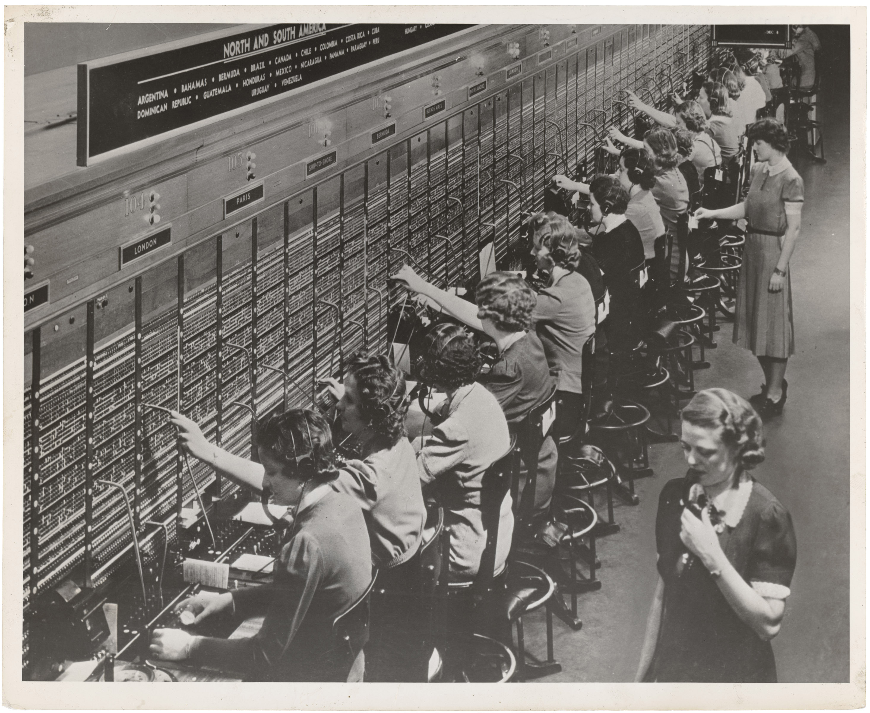Switchboard operators image