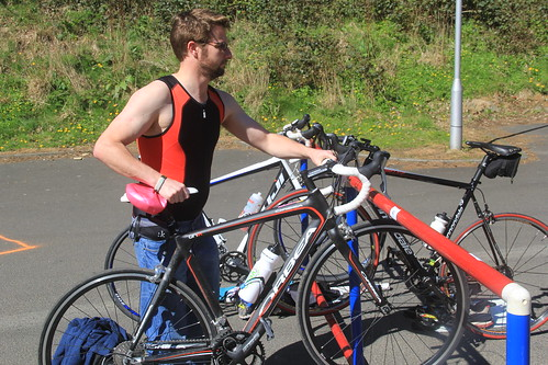 Racking Oìsin  at the Galashiels Novice Tri