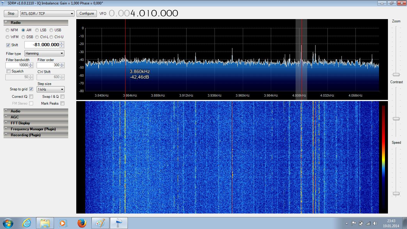 Spectrum is mirrored when filter or demodulator changes