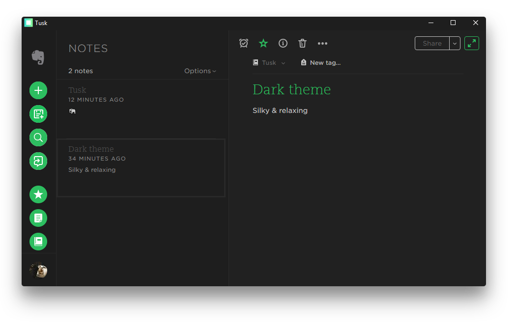 Tusk Dark Theme