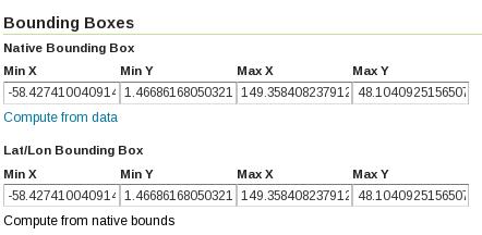 GeoNetwork Compute Bounding Box