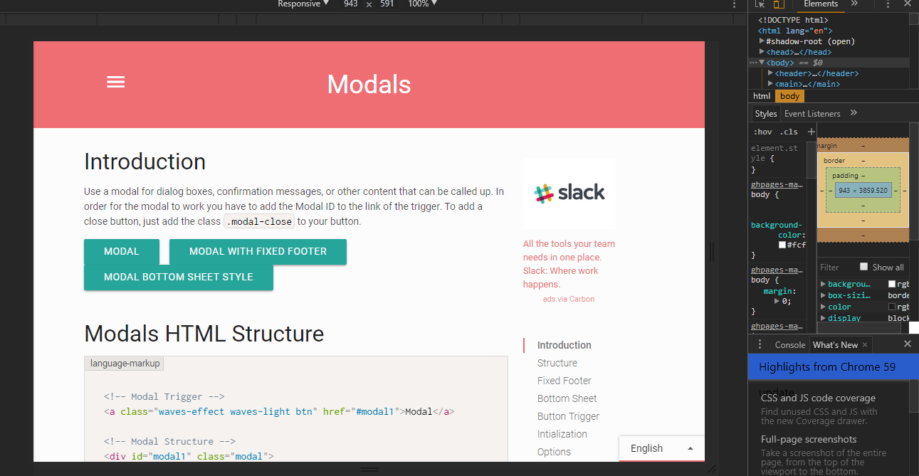 Modal is responsive but background (when modal is activated