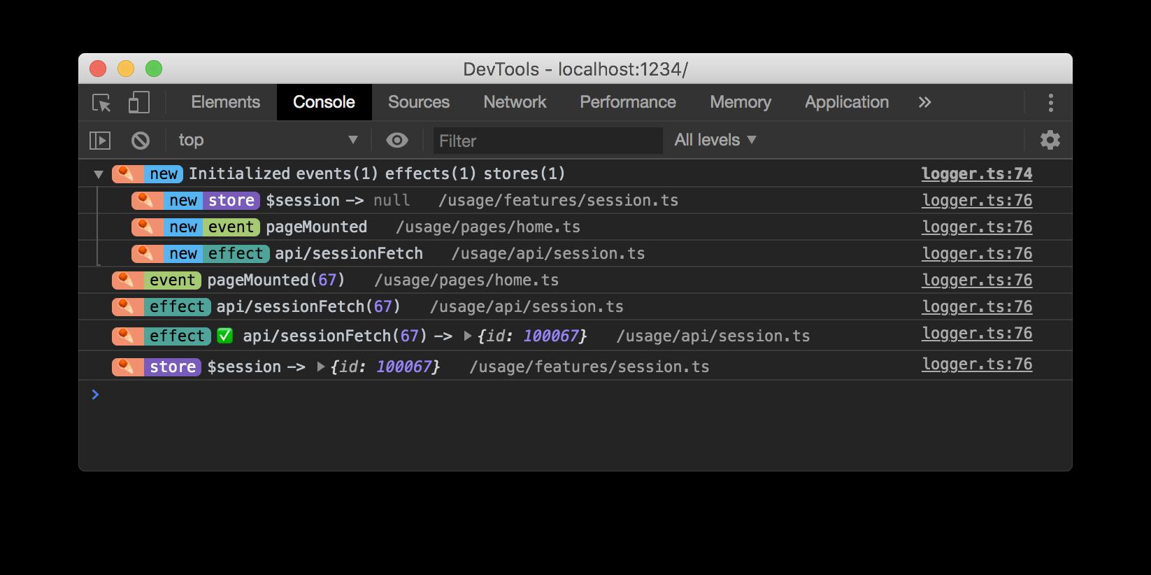 Chrome-DevTools-Console-Dark