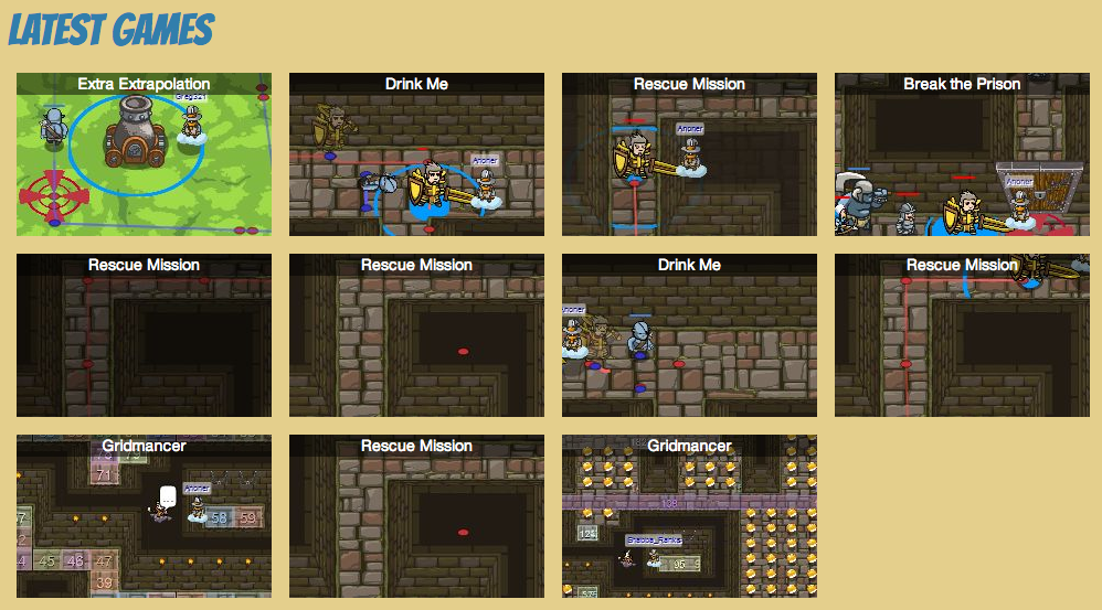 Preliminary multiplayer game list