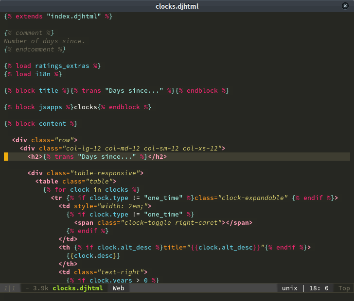 develop - django layer - django template syntax highlighting doesn\'t ...