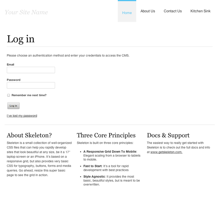 SilverStripe Foundation Theme