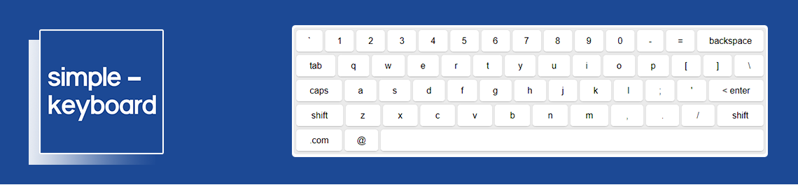 simple-keyboard: Javascript Virtual Keyboard