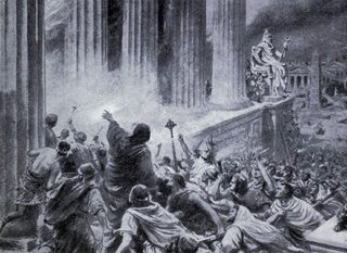 The Burning of the Library at Alexandria in 391 AD. Ambrose Dudley