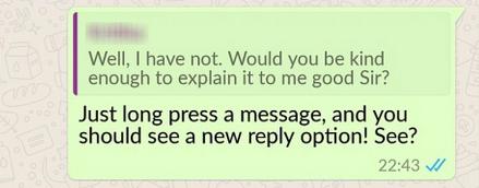 WhatsApp Quote-Reply
