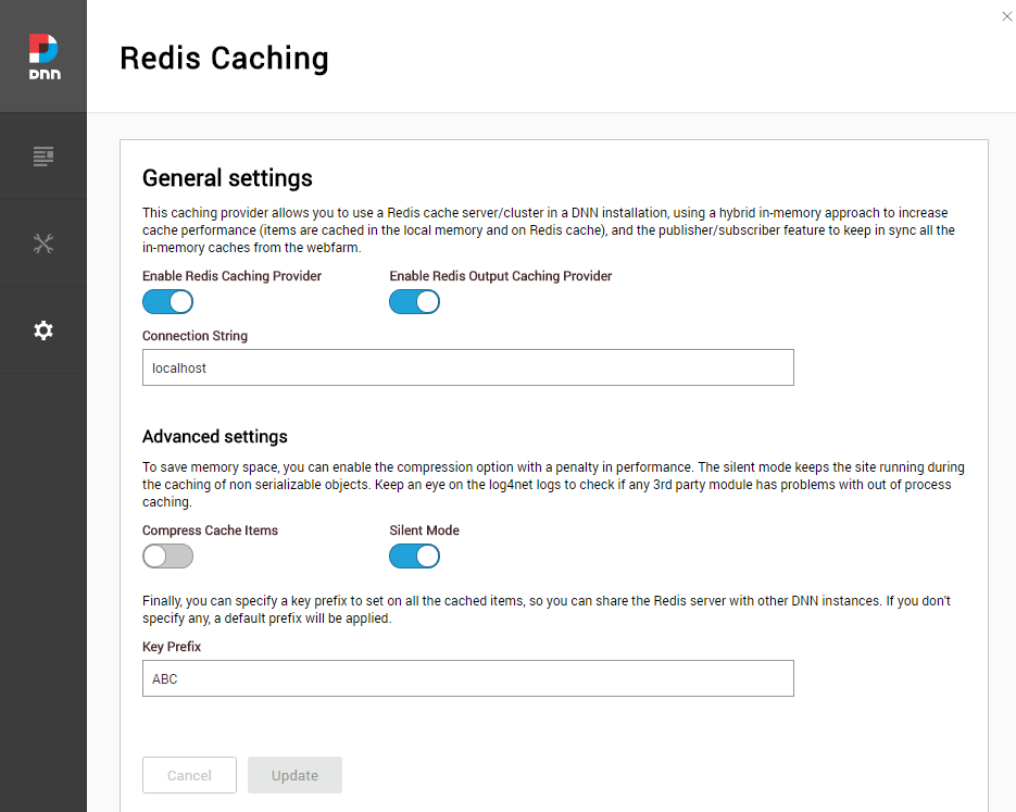 Redis Caching Configuration